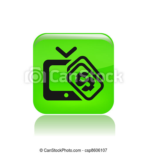 Vector illustration of single isolated pay tv icon - csp8606107
