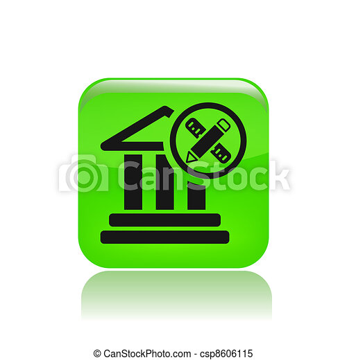 Vector illustration of single isolated temple icon - csp8606115