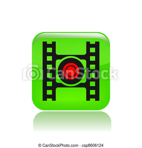 Vector illustration of single isolated record button icon - csp8606124
