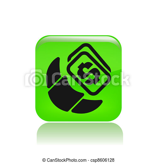 Vector illustration of single isolated breakfast cost icon - csp8606128