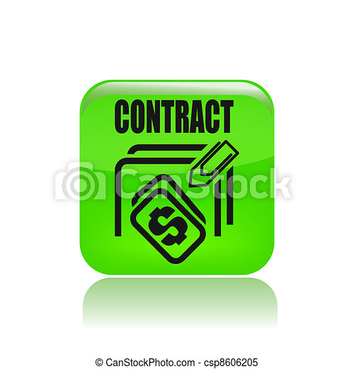 Vector illustration of single isolated contract price icon - csp8606205