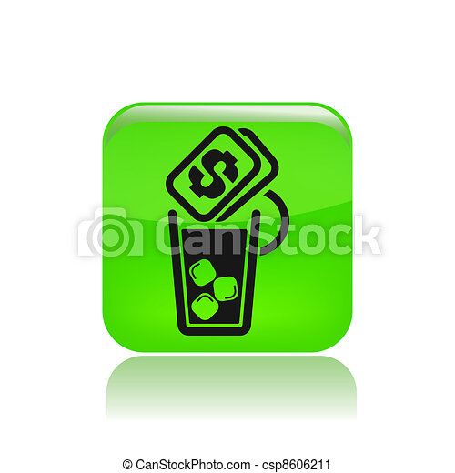 Vector illustration of single isolated drink cost icon - csp8606211