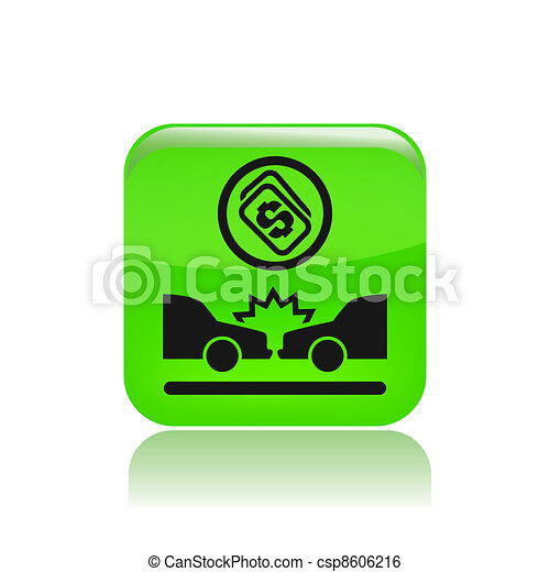 Vector illustration of single isolated crash cost icon - csp8606216