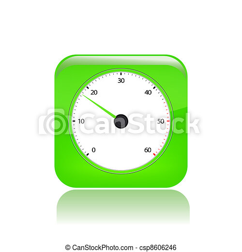 Vector illustration of single isolated speed icon - csp8606246