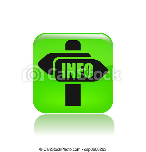 Vector illustration of single isolated info icon - csp8606263
