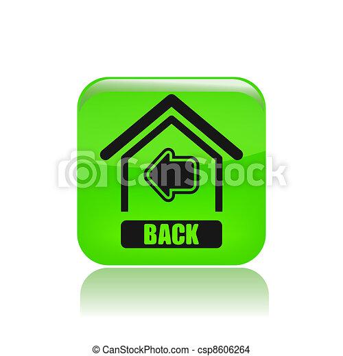 Back Icon Logo Isolated Back Home Icon