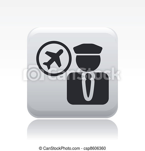Vector illustration of single isolated pilot icon - csp8606360