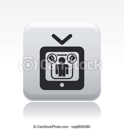 Vector illustration of single isolated reality icon - csp8606380