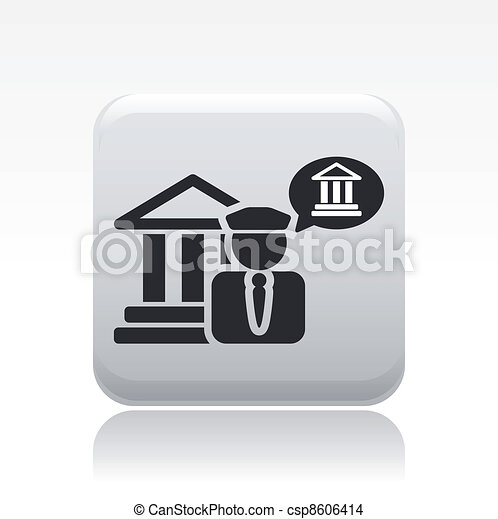 Vector illustration of single isolated temple guide icon - csp8606414