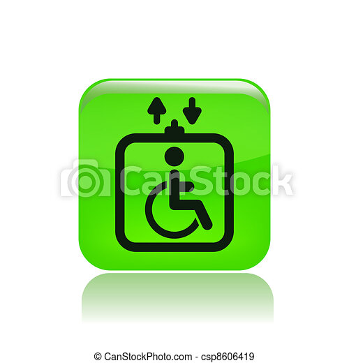 Vector illustration of single isolated handicap elevator icon - csp8606419