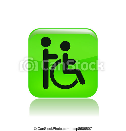 Vector illustration of single isolated handicap icon - csp8606507