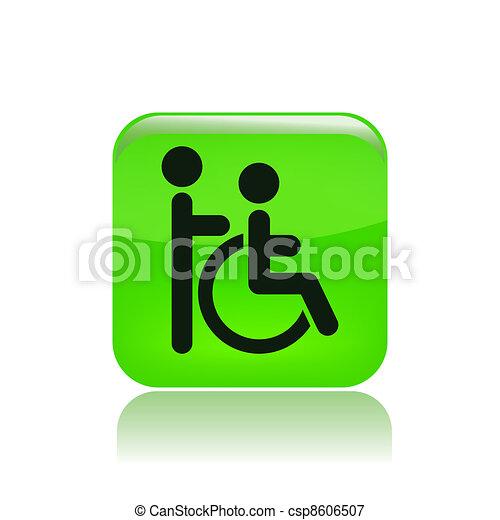 Vector illustration of single isolated handicap icon - csp8606507