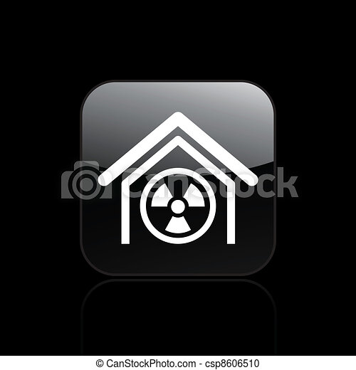 Vector illustration of single isolated radioactive icon - csp8606510