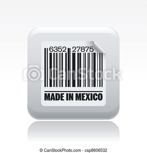 Vector illustration of single isolated made in Mexico icon - csp8606532