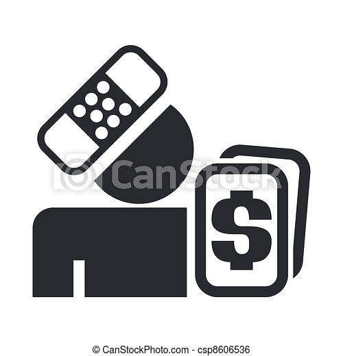 Vector illustration of single isolated insurance icon - csp8606536