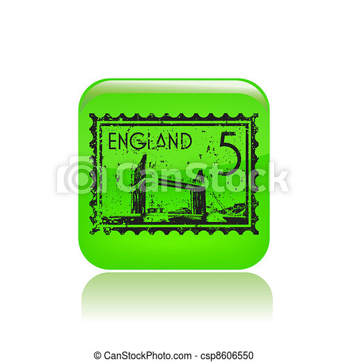 Vector illustration of single isolated England icon - csp8606550