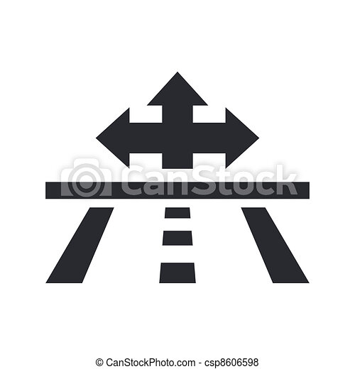 Vector illustration of single isolated navigate icon - csp8606598