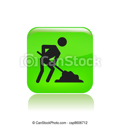 Vector illustration of single isolated work in progress icon - csp8606712