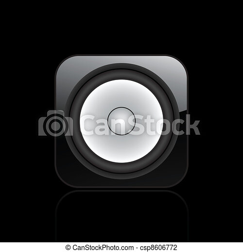 Vector illustration of single isolated speaker audio icon - csp8606772