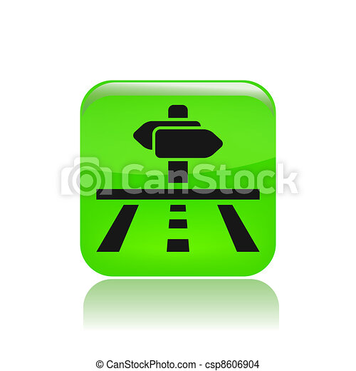 Vector illustration of single isolated road icon - csp8606904