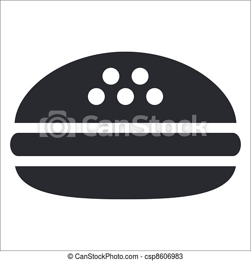Vector illustration of single isolated fast-food icon - csp8606983