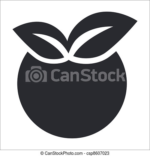 Vector illustration of single isolated apple icon - csp8607023