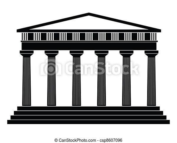 Vector illustration of single isolated temple icon - csp8607096