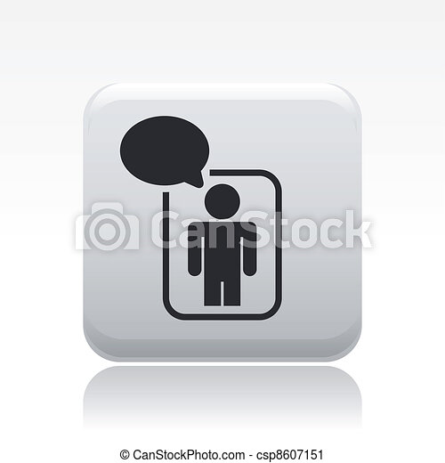 Vector illustration of single isolated chat icon - csp8607151