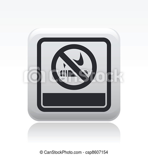 Vector illustration of single isolated not smoke icon - csp8607154