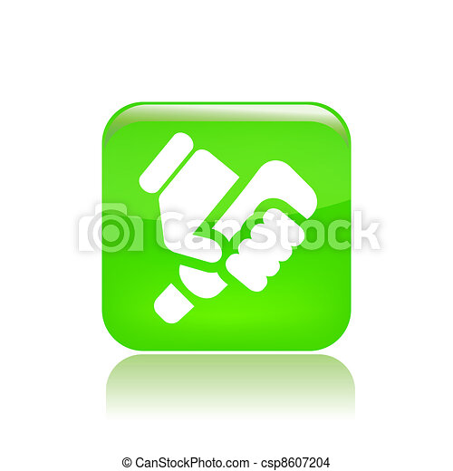 Vector illustration of single isolated tube press icon - csp8607204