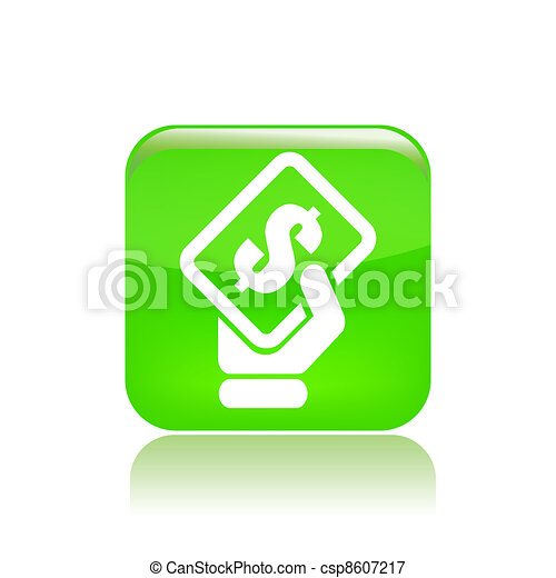 Vector illustration of single isolated payment icon - csp8607217