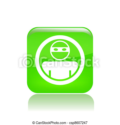 Vector illustration of single isolated thief icon - csp8607247