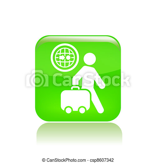 Vector illustration of single isolated travel direction icon - csp8607342