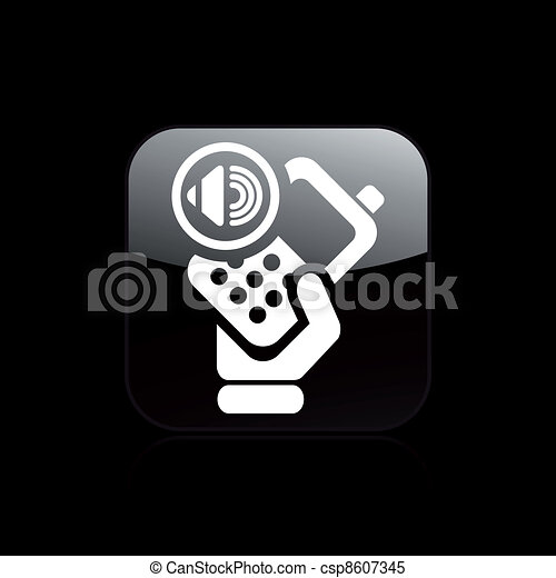 Vector illustration of single isolated audio phone icon - csp8607345