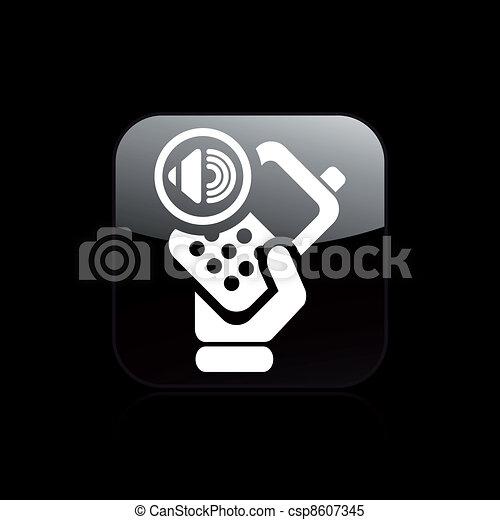 Vector illustration of single isolated audio phone icon - csp8607345