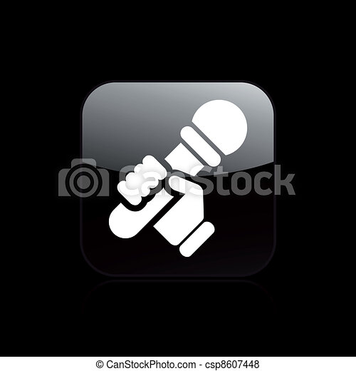 Vector illustration of single isolated karaoke icon - csp8607448