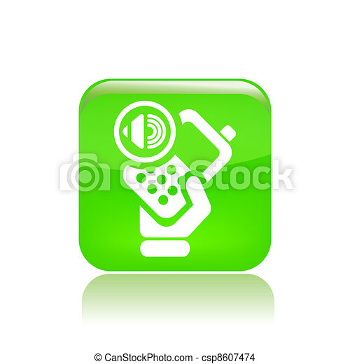Vector illustration of single isolated phone audio icon - csp8607474