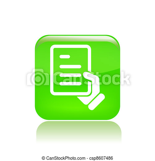 Vector illustration of single isolated document icon - csp8607486