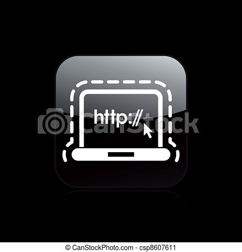 Vector illustration of single isolated web protection  icon - csp8607611