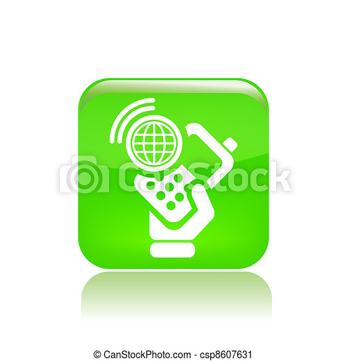 Vector illustration of single isolated smartphone icon - csp8607631