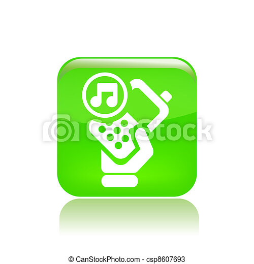 Vector illustration of single isolated phone audio icon - csp8607693