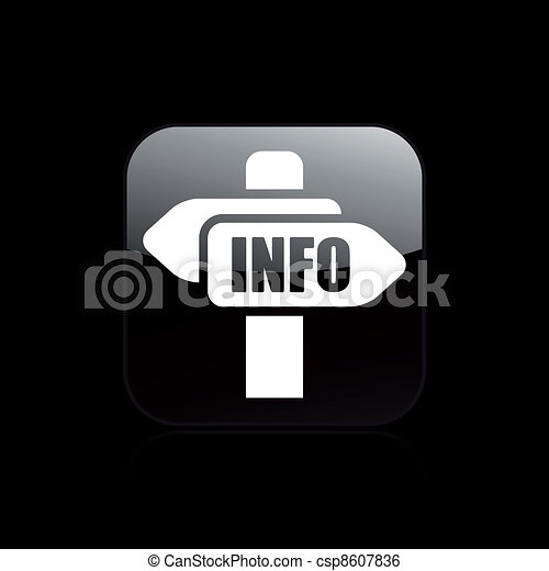 Vector illustration of single isolated cartel info icon - csp8607836