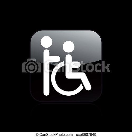 Vector illustration of single isolated handicap icon - csp8607840