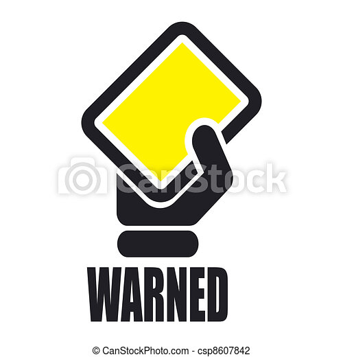 Vector illustration of single isolated warned icon - csp8607842