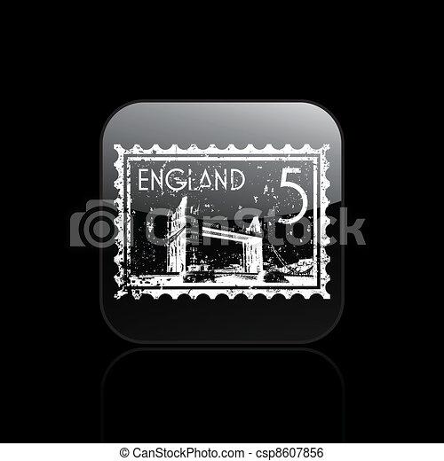 Vector illustration of single isolated London Bridge icon - csp8607856