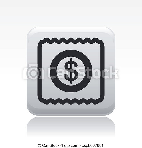 Vector illustration of single isolated pay icon - csp8607881