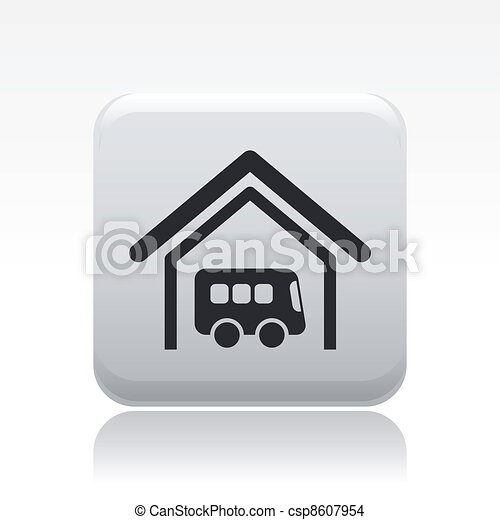 Vector illustration of single isolated bus station icon - csp8607954