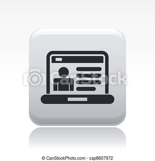 Vector illustration of single isolated web account icon - csp8607972