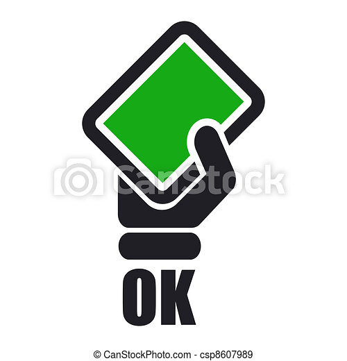 Vector illustration of single isolated ok icon - csp8607989