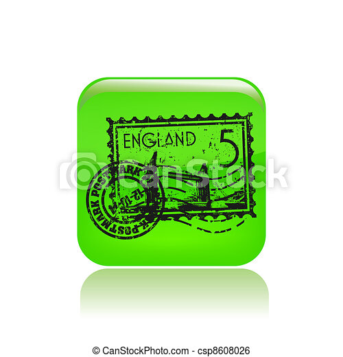 Vector illustration of single isolated England icon - csp8608026